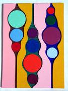 Oase n°2, 2011Vinyl und Lack auf Holz, ca, 29 x 38 cm