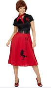 50er-Jahre-Kleid Pudel