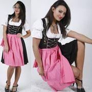 Dirndl schwarz-pink Gr.42