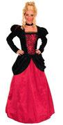 Barock - Kleid rot-schwarz