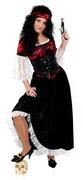 Piratin Kleid lang