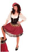 Piratin Kleid kurz
