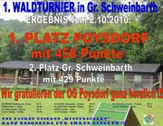 Waldturnier Gr. Schweinbarth 02.10.2010