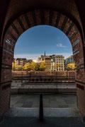 Aussicht auf herbstliches Hamburg