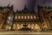 Die Kehrseite des Rathauses Hamburg
