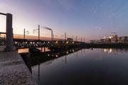 Eisenbahnbrücke Himmel