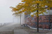 Nebel in der Hafencity im Oktober