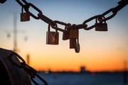 Sonnenuntergangsschloß am Museumshafen Oevelgönne