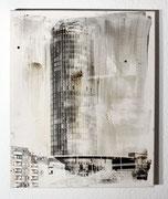 Urban Studies (Essen 1990), Acrylfarbe und belichtete Silbergelatine auf Leinwand, 1997