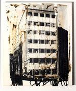 Urban Studies (Essen 1970), Acrylfarbe und belichtete Silbergelatine auf Leinwand, 1997