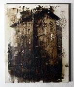 Urban Studies (Essen 1950), Acrylfarbe und belichtete Silbergelatine auf Leinwand, 1997