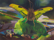 The smile of the moth, 2020, oil on linen, 90 x 120 cm