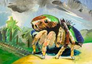 Waiting for prey, oil on linen, 60 x 80 cm