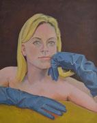 Evelyn, 2020, Öl auf Leinen, 80 x 100 cm