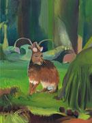 König des Waldes, 2020, Öl auf Leinen, 80 x 60 cm