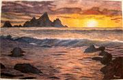 """""""Tramonto tramonto"""" Acquarello su carta - 40x60 - 2008  Collezione Privata della Dott. Baraldi"""