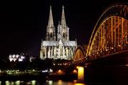 Köln - Kölner Dom bei Nacht