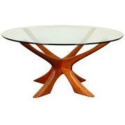 ILLUM WILKENSø, Danish Sculptural Teak Wood,Spider coffee table, 1960s