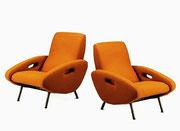 MARCO ZANUSO Club Chairs, ITALY 1948-49 (pair)