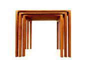 REX RAAB Mid-century modernist nest of tables for WILHEM RENZ (2 sets)