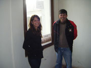 Cindy incontra ´l so paesán Alvirio Tonet, Presidente dea Ass. Italiana Veneta NOVA PADUA