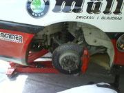 Die Bremse hätte unsereins gern vorne :-)