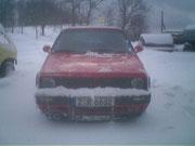 Immer am Schnee schieben