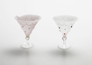 """リキュールグラス """"恋占い""""  liqueur glass   -tarot-         H100×W90×D90"""