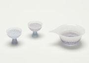 """""""花ほろん""""   sake glass&pitcher   -hana horon-     H58×W65×D65   H65×W160×D125"""
