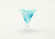 """リキュールグラス """"ブルー・ナイト""""  liqueur glass  -blue night-          H100×W90×D90"""