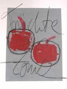Früchte des Zorns 1.1   30x40 Acryl und Ölkreide auf Papier