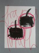 Früchte des Zorns 1.3   30x40 Acryl und Ölkreide auf Papier