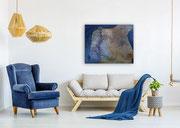emotions 100 cm x 80 cm Leinwand auf Keilrahmen Struktur, Acryl, Spray, fixiert