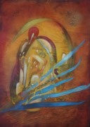 Tor der Gegenwart 70 cm x 50 cm Leinwand auf Keilrahmen, Acryl, Öl