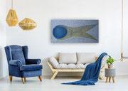 Unity 140 cm x 70 cm Leinwand auf Keilrahmen, Mischtechnik, fixiert