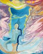 mirrow of desire 40 cm x 50 cm Leinwand auf Keilrahmen, Öl auf Acryl, fixiert