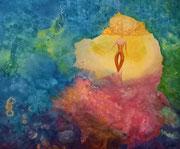 golden state of mind 60 cm x 50 cm Leinwand auf Keilrahmen Mischtechnik, fixiert