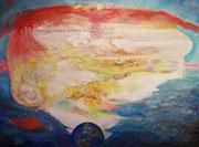 Seelenlandschaft 120 cm x 90 cm Leinwand auf Keilrahmen, Mischtechnik, fixiert