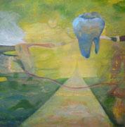 rest in peace 100 cm x 100 cm  Leinwand auf Keilrahmen, Acryl, Öl, fixiert