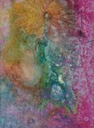"""universe""  50 cm x 70 cm Leinwand auf Keilrahmen, Acryl, fixiert"