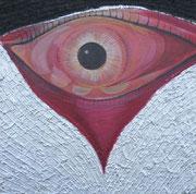 the view 80 cm x 80 cm  Leinwand auf Keilrahmen Tempera, Acryl, Struktur, Schlagmetall, fixiert