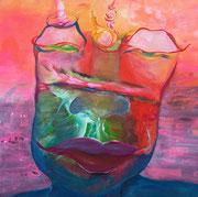 I feel good 70 cm x 70 cm Leinwand auf Keilrahmen, Acryl, fixiert
