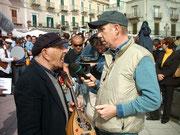 Bartoluzzo e Davide Mengacci durante la trasmissione