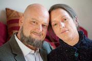 Ehepaar alt geschminkt mit Latex