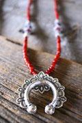 naja  , antique white herat necklace  アンティークホワイトハートネックレス