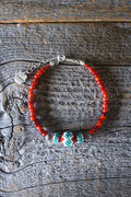 antique white heart 4/0 bracelet アンティークホワイト ブレスレット