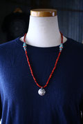 antique white heart 4/0 necklace  アンティークホワイトネックレス