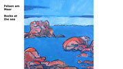 Felsen am Meer, 2014, 40x40cm