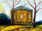 Haus im Park, 1983, 30x40cm