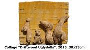 Driftwood Uglydolls, 2015, 38x33cm